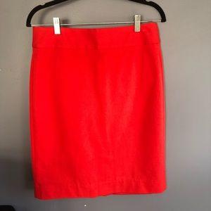 Red Banana Republic Pencil Skirt